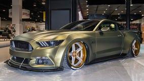 在SEMA的Ford Mustang 免版税库存图片