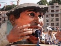 在Semana重创的节日的Gargantua在毕尔巴鄂 图库摄影
