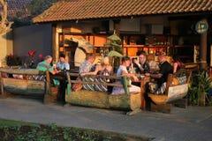 在Seminyak的海滩在巴厘岛 免版税图库摄影