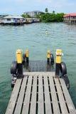 在Semporna沙巴婆罗洲马来西亚的跳船 库存照片