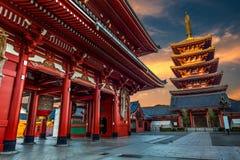在Sensoji寺庙的新年 库存照片