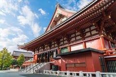 在Sensoji寺庙的美好的建筑学在浅草地区附近 库存图片