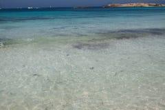 在Ses Illetes海滩 免版税库存照片