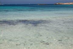 在Ses Illetes海滩 图库摄影