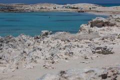 在Ses Illetes海滩 免版税图库摄影