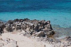 在Ses Illetes海滩 免版税库存图片
