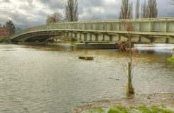 在Severn桥梁的厄普顿 免版税库存图片