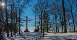 在Sewanee的十字架 图库摄影