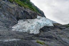 在Seward退出冰川在阿拉斯加美利坚合众国 免版税库存照片