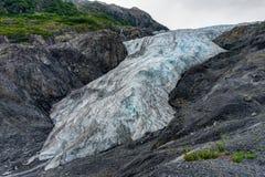 在Seward退出冰川在阿拉斯加美利坚合众国 免版税库存图片