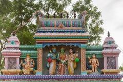 在Shani寺庙的希瓦Parvati婚礼在Kadiapatti 库存照片