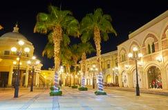 在Sharm El谢赫手段,埃及的晚上 库存照片