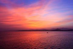 在Sharm El谢赫的日落 免版税库存图片