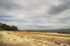 在Sheephaven海湾, Co的海滩 Donegal,爱尔兰 库存照片