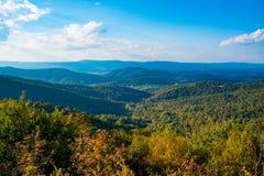 在Shenandoah国家公园的一俯视 免版税库存图片