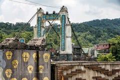 在Shifen,台湾的吊桥 图库摄影