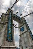 在Shifen,台湾的吊桥 库存照片
