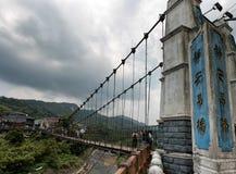 在Shifen,台湾的吊桥 免版税库存图片
