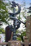 在Shinsho寺庙的日本龙雕象,成田,日本 库存照片