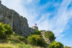 在Shkodar市附近的看法从Rozafa城堡,阿尔巴尼亚 免版税库存照片