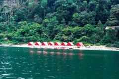 在Shnongpdeng,旅游目的地,印度的野营的帐篷 库存图片