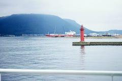 在Shodoshima海岛,四国,日本的灯塔 库存图片