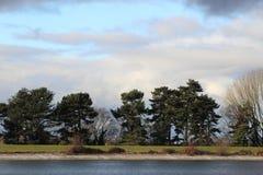 在Shuckstoke水库的冬日 免版税库存照片
