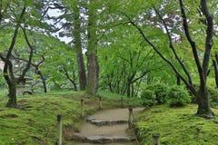 在Shukkeien的步行方式 免版税库存照片