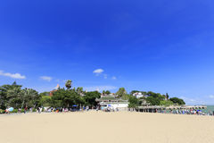 在shuzhuanghuayuan庭院之外的沙滩在鼓浪屿上 库存图片