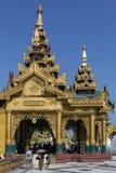 Shwedagon塔复合体-仰光-缅甸 库存照片