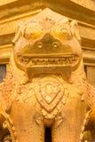 在Shwezigon塔, Bagan,缅甸的装饰 免版税库存图片
