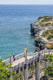 在Sichang海岛的切口山 免版税库存照片