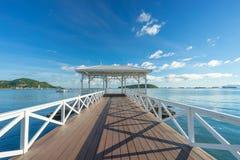 在Sichang海岛的历史白海桥梁 库存图片
