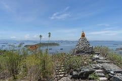 在Sichang海岛的Stupa 免版税库存图片