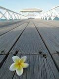 在Sichang海岛, Chonbur的Asdang桥梁 库存图片