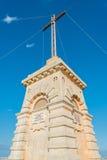 在Siggiewi,马耳他极限的Laferla十字架  免版税库存照片