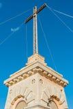在Siggiewi,马耳他极限的Laferla十字架  库存照片
