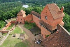 在sigulda turaida附近的城堡拉脱维亚 免版税库存照片