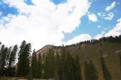 在Silverton附近的山科罗拉多州的一个老银色采矿镇美国 库存图片