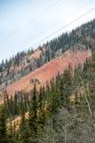 在Silverton,科罗拉多附近的五颜六色的山 库存图片