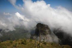 在simien山的风景,埃塞俄比亚 免版税库存图片