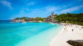 在Similan海岛,泰国的热带海滩 免版税库存图片