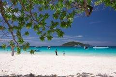 在Similan海岛,泰国的美丽的热带海滩 免版税库存照片