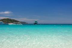 在Similan海岛,泰国的美丽的热带海滩 库存照片