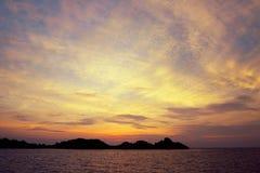 在Similan的日落 库存照片