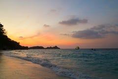 在Similan的日落 免版税库存照片