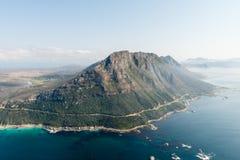在Simonstown,南非附近的山 库存照片