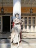 在Sissi的宫殿的雕象在克基拉岛 图库摄影