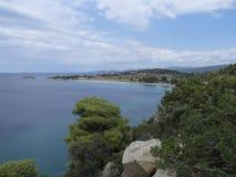 在Sithonia的希腊岸 库存图片