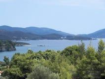 在Sithonia的希腊岸 免版税库存图片